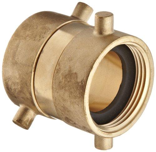 Moon 379-1521521 Brass Fire Hose Adapter, Swivel, 1-1/2