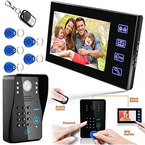 Smart Video Doorbell, Touch Key 7″ LCD Video Door Phone...