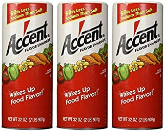 Accent Flavor Enhancer - 2 lb. canister by Accent [Foods] (Pack of 3)