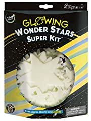 Light up your nights with the wonder stars Super kit from Great Explorations. This kit comes with 150 glow-in-the-dark stars and adhesive putty. Plus a constellation chart to help create the constellations in the night sky. Create a whole galaxy on t...