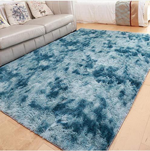 CVMFE Teppich Hochflor Anti-Rutsch-Fußmatten Grauer Teppich Tie Dye Plüsch Weiche Teppiche Schlafzimmer Wasseraufnahme Teppich Teppiche Für Wohnzimmer Schlafzimmer-160X200Cm_Style10