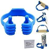 Honsky Universal Flexible Thumb Smartphone Stand Holder - Blue