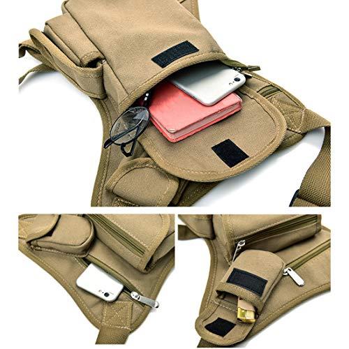 Easy-BAG color negro con dos compartimentos Bolsa pernera poli/éster