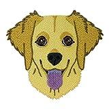 Finally Home Parche termoadhesivo de perro Golden Retriever para planchar | Parches de perros de animales, parches para niños