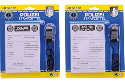 Politie bonnenboekje met potlood en fluit Duitse uitvoering