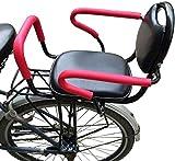 WERPOWER Seggiolini per Bicicletta, Seggiolino per Bici con Recinzione Rimovibile Bracciolo E Pedale Cuscino per Bambini Sedile Posteriore Allargabile per Ispessimento Sicuro per Bambini di 1-6 Anni