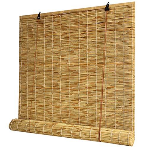 Persianas Enrollables de Bambú, Hechas de Caña,Tejidas a Mano Persianas de Decoración para el Hogar Interiores/Exteriores, para Jardín/Balcón/Ventana,Personalizable(140x210cm/55x83in)