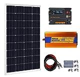 ECO-WORTHY 120 Watt Solar Panel Kit with 1000W 12V Power Inverter for Off Grid 12 Volt Battery System