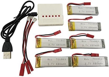 sea jump 6PCS 3.7V 680mAh U818A-1 UDI U818A for free Department store Batteries