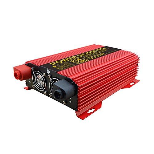 Convertisseur BQ Power Inverter Power 3000W DC 12V à 220V AC de Voiture PV Solaire avec Adaptateur Allume-Cigare (Rouge)