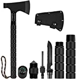 GOGOTIT Camping Axe, Folding Ax with Sheath Survival Multi Tools Kit Tactical Hatchet for Hiking, Backpacking, Emergency, Hunting, Outdoor… (Rectangular Shape)