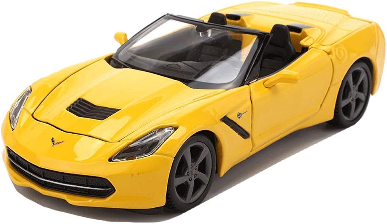 DUWEN Model Car Corvette Sports Car Model 1 24 Emulation Alloy Static Car Model Toy Car Model Collection Decoration