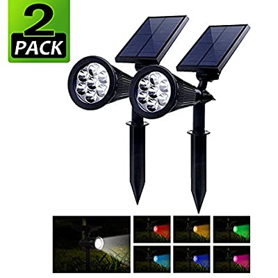 PowerKing Outdoor Solar Spotlight Powered Motion Sensor Battery Operated