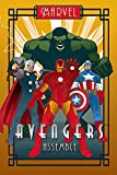 POSTER STOP ONLINE The Avengers - Marvel Comics Poster (Art Deco Design) (Iron Man, Captain America, Thor & The Hulk) (Size 24' x 36')