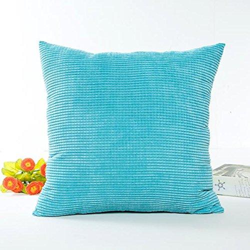 kingko® taie d'oreiller 45cm * 45cm Sofa taille Throw canapé Coussin Home Decor (bleu ciel)