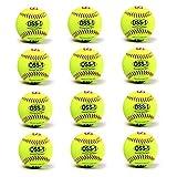 BARNETT OSS-1 - Balón de softbol (tamaño práctico, 12 Amarillo)