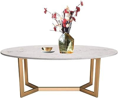 Muebles de mármol Redonda Mesa de café, Marco de Metal, Sala de ...