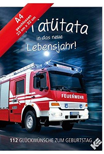 Geburtstagskarte XL Mit Tatütata ins neue Lebensjahr A4 Format mit Umschlag