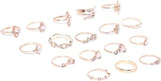 Jewels Galaxy Stylish Vintage Floral Designs Silver Plushy Rings for Women/Girls (Mixed Sizes)