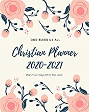 2020-2021 Christian Planner: Weekly and Monthly Planner with Inspirational Bible Quotes, July 2020 to December 2021, Calendar views, Schedule ... with Vintage Floral Cover, Large Size