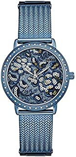 Guess Analog Blue Dial Women's Watch-W0822L3