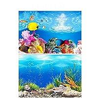 RUIMA PVCダブルサイド水族館の背景のポスター装飾水槽の壁Lanscaping装飾背景のポスター40分の30/50センチメートル(高さ) 金魚鉢の飾り (Color : A, Size : 40x60cm)