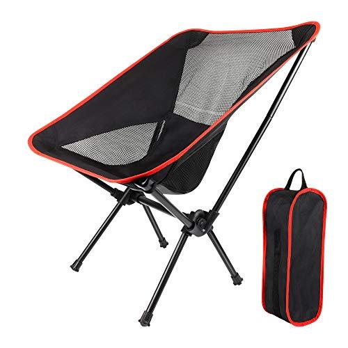 Silla de camping plegable para exteriores, silla de respaldo plegable portátil de ocio con bolsa de transporte, cómoda silla de espacio simple para actividades al aire libre, camping, picnics