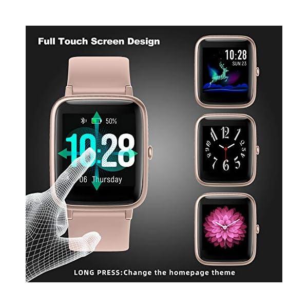 YONMIG Reloj Inteligente Mujer y Hombre, Smartwatch Impermeable IP68 Pulsera Actividad Deportivo con Monitor de Sueño… 3
