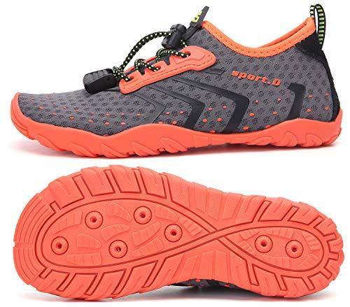 SAGUARO Escarpines Agua Niños Niñas Zapatos Surf Niñas Antideslizante Secado Rápido Calzado Natacion para Buceo Vela Kayak Naranja 31 EU