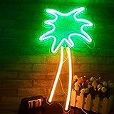 Kokosnussbaum Neon Zeichen LED Neonlichter Kunstwanddekor für Zimmer Wand Kinder Schlafzimmer Geburtstag Party Bar Decor 18,9'x 7,8' (Palm Tree)…