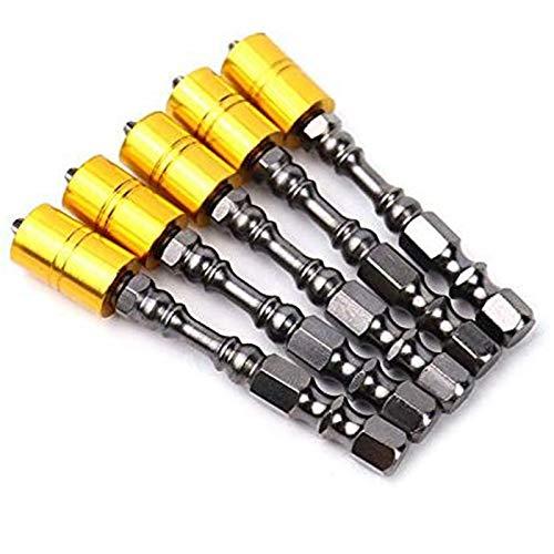 RETYLY Set di Punte per Cacciavite Magnetico da 5 Pezzi Forte 65Mm Phillips Inserti per Cacciavite per Cartongesso
