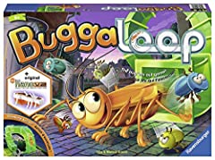 "What you get - buggaloop comes with 1 hexbug Nano V2 incl. Battery, 1 3D backyard, 2 plastic ""drain pipes"", 12 plastic bugs, 1 die, 1 game board, and instructions. Fun play experience - you can play a game in 15 minutes, and it's perfect for 2-4 play..."
