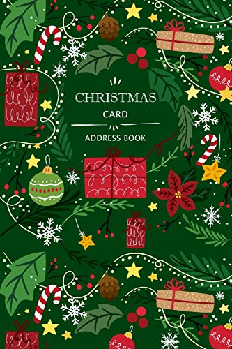 Christmas Card Address Book: Holiday Cards List Tracker Send and Receive Mailings for 10 Year Oranizer Record Book with A-Z Tabs Personal Log Book Pocket Size (Christmas Card Organizer)