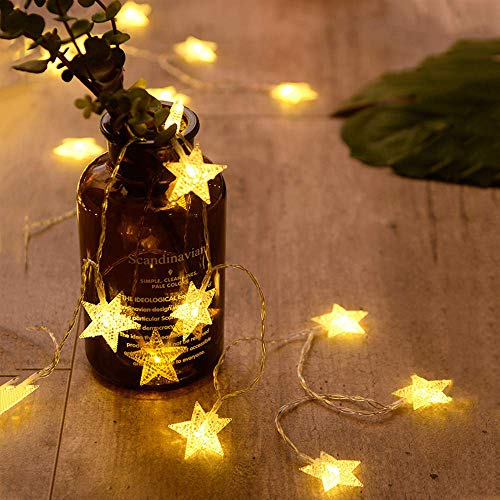 ANJAYLIA 20 LED Star String Lights 10 FT ...