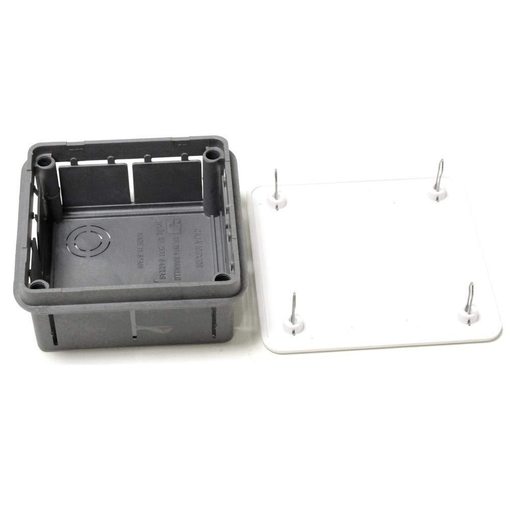 BeMatik - Caja empotrada de Registro eléctrico Cuadrada ...