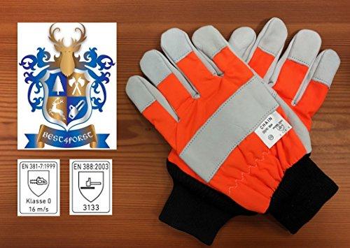 Schnittschutzhandschuh Gr. 10 Forsthandschuh für Kettensägenarbeit
