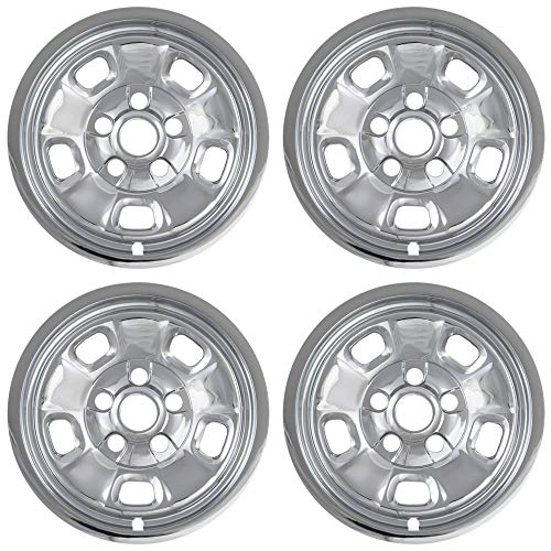 MARROW New Wheel Skin Covers Fits 2013-2018 Dodge Ram; 17 Inch; 5 Spoke; Chrome Plated; Plastic; Set of 4; Compatible with Steel Wheels