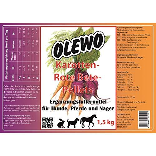 Olewo Karotten-Rote-Beete Pellets 1,5 kg