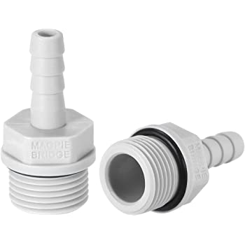 uxcell PVC Barb Hose Fitting Connector Adapter 12mm or 15//32 Barbed x G3//4 Male Pipe 6pcs