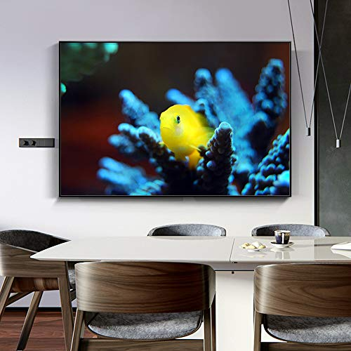 1 Pieces Cute Golden Fish Underwater World Kids Childrens Living Room Posters Hd Canvas Painting Home Decor Pictures 40x60cm