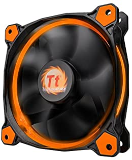 Thermaltake Riing 12 LED - Ventilador de 120 mm, Color Naranja
