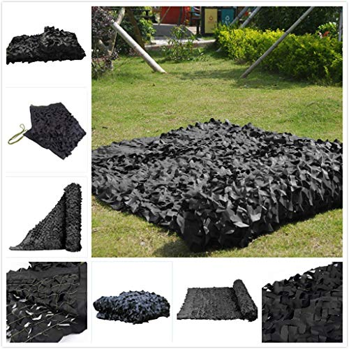 Army Camouflage Net Reinforced Black Canopy for Hunting Camping Garden Gazebo Terrace Greenhouse Pergola Decoration 3x4m 6x8m 12m 10m Shade Sails Fabrics Sun Shade for Patio (Size : 3 * 3M)