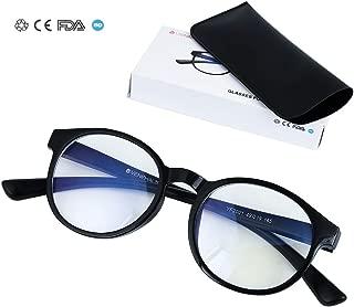 VENEHAUS ブルーライトカットメガネ pcメガネ 紫外線カット ブルーライトカット対策 男女兼用 収納袋付き(ブラック)