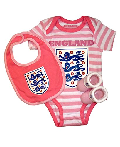 England FA - Body - Bébé (fille) 0 à 24 mois rose Pink and White 0-3m