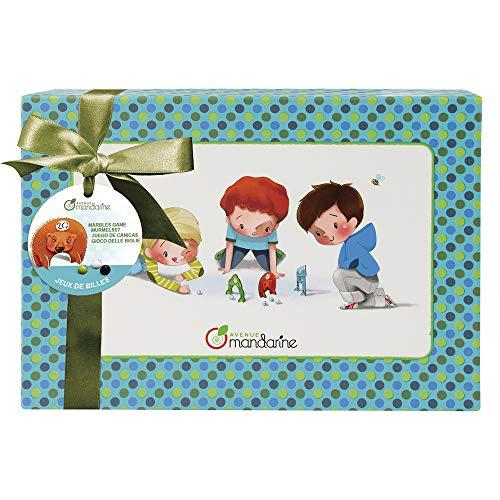 Avenue Mandarine 62428O Murmel Set (Junge mit 20 Murmeln und 9 Toren, inklusiv Anleitungen, das ideale Geschenk für Kinder) blau