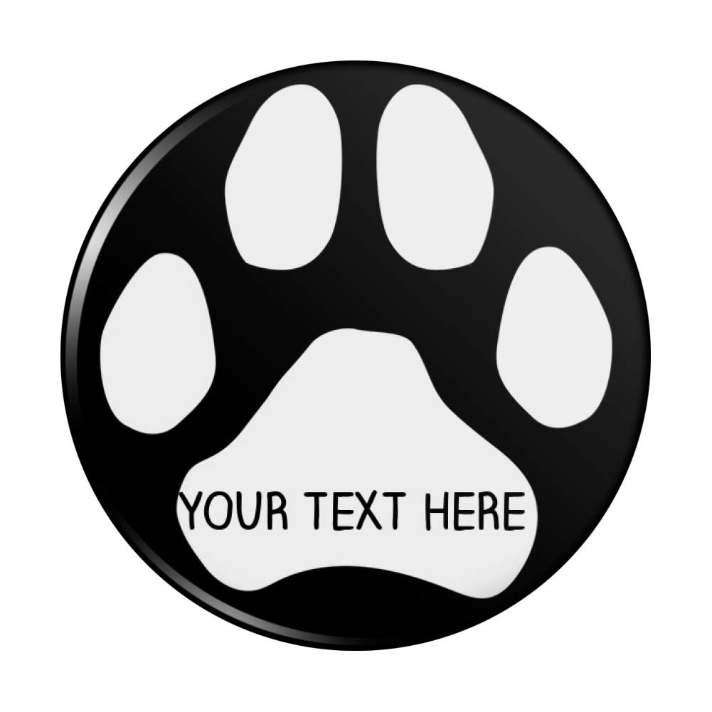Personalized Custom Paw Year-end gift OFFicial Print 1 Line Hand C Purse Compact Pocket