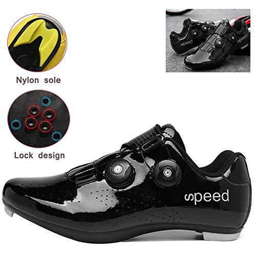 MLyzhe Zapatilla De Ciclismo Hombres Zapatos De Bicicleta con Doble Cierre Rotativo...