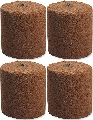4x Holzspäne Brennelemente für Gartenfackel Feuerschale Feuersäule 8,5cm