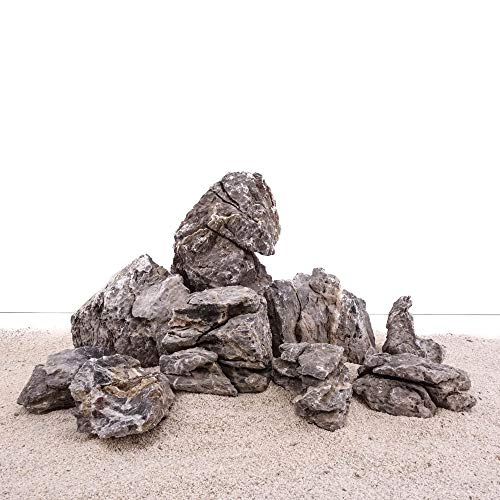AquaOne Aquarium Natursteine Mini Landschaft Set S1 Gr.M-XL 9 Steine Dekoration Aquascaping