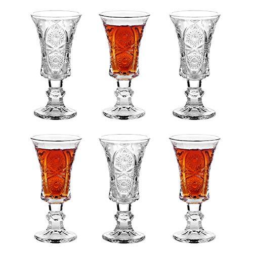 Shot Glasses, 1.5oz Super Cute Ornate Shot Glasses Set of 6/ Fancy Shot Glasses/Classy Shot Glasses Set/Shot Glasses for Liqueurs